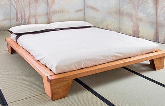 Letto Futon Una Piazza E Mezza : Letti in legno vivere zen