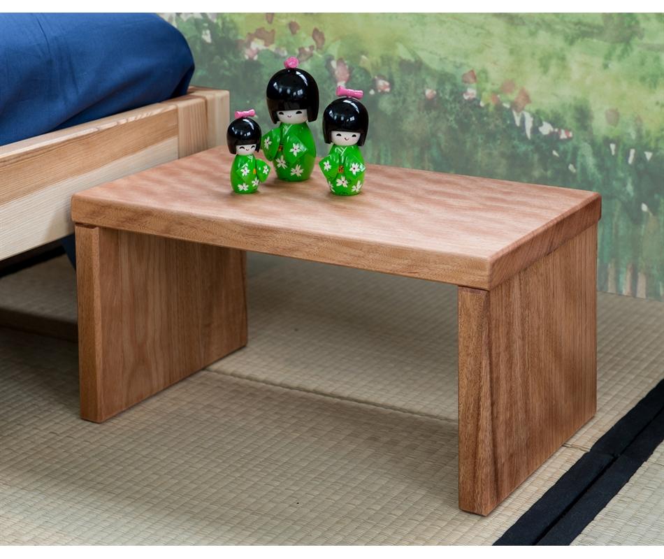 Comodino in legno artigianale Petrosino (Okumé) - Vivere Zen