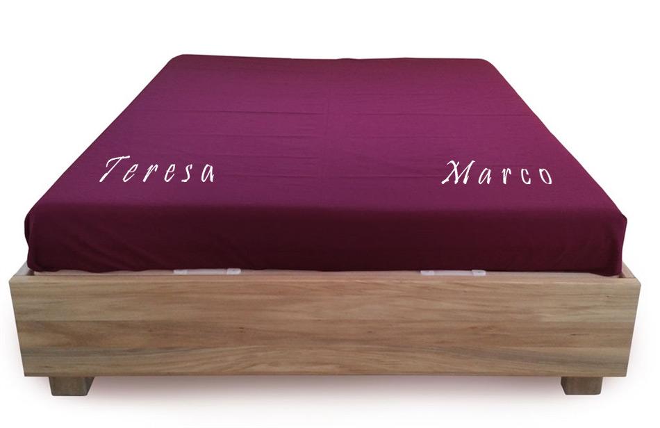 Copriletto Con Nomi Personalizzati Colori A Scelta Vivere Zen