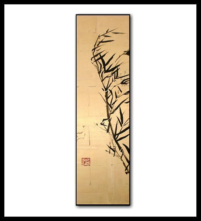 Dipinti giapponesi bamb oro vivere zen for Disegni tradizionali giapponesi
