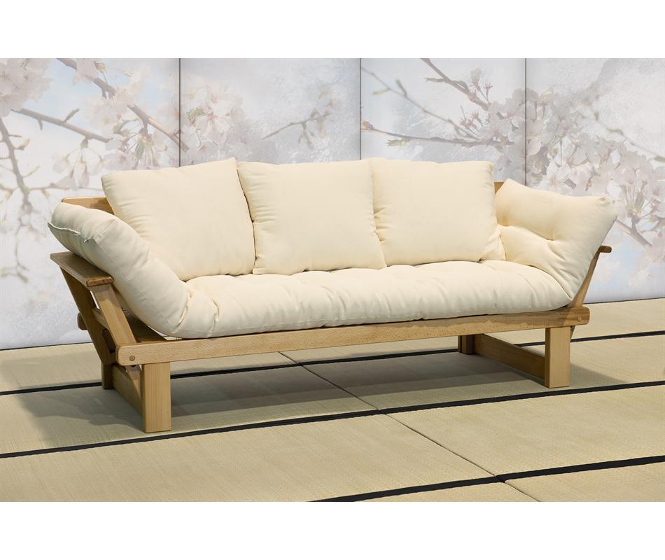 Divano letto futon - Sesamo a tre posti - Vivere Zen