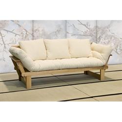 Divano letto futon sesamo a tre posti vivere zen - Divano letto zen ...