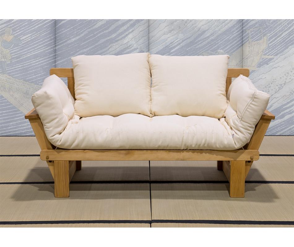 Divano letto futon sesamo naturale in promozione vivere zen - Divano letto futon ...