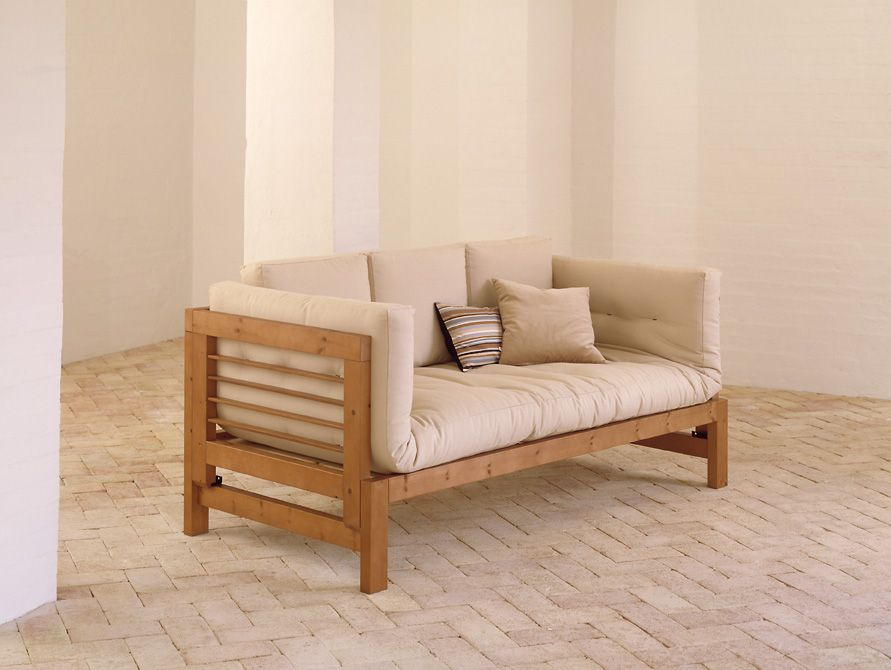 Divano letto futon eiko three vivere zen for Letto futon