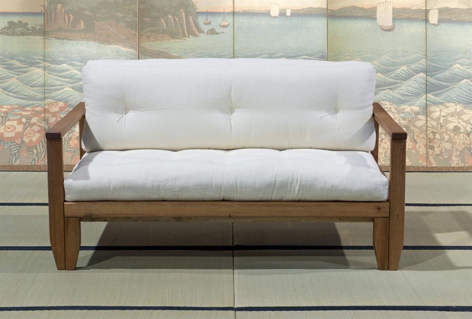 Poltrona Letto Futon : Divano letto in legno artigianale futon edera vivere zen