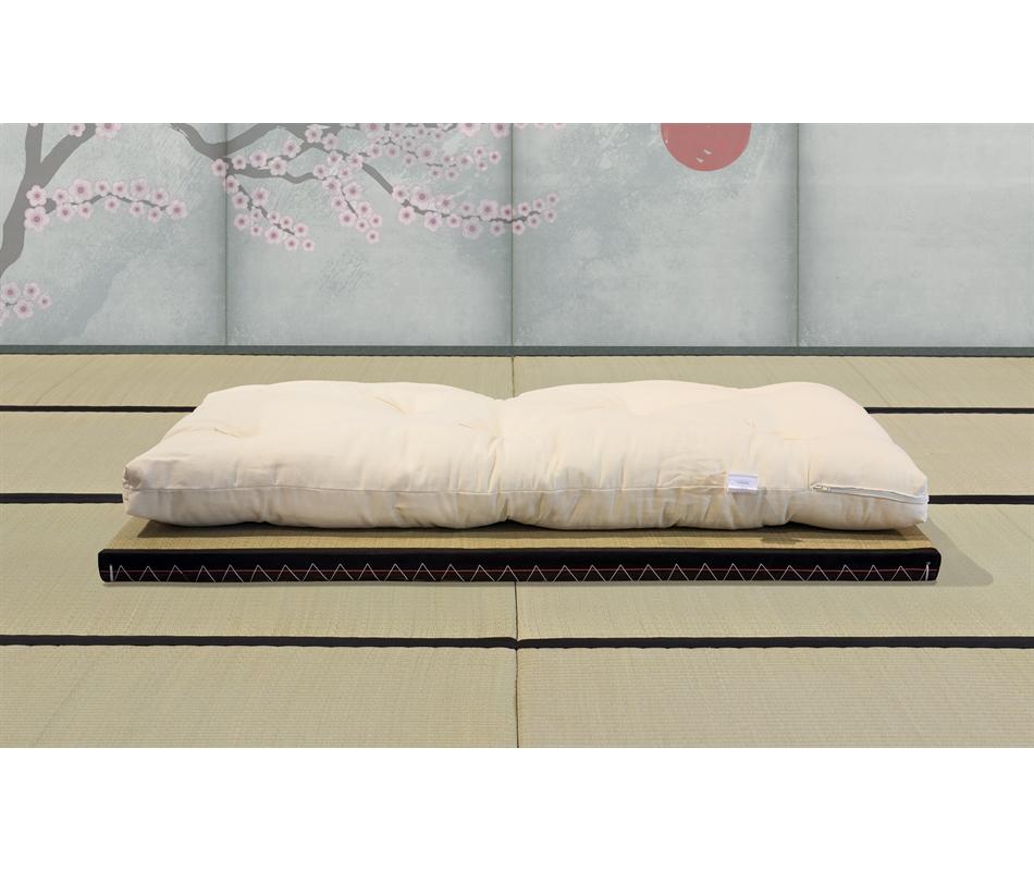 Kit futon bimbi tatami rivestimento puro cotone for Futon e tatami