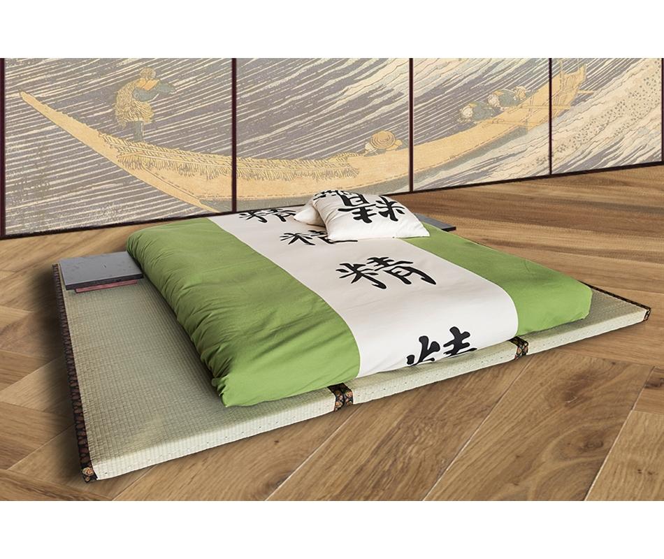 Kit letto 3 tatami decorati futon da 11 a 15 cm - Letto giapponese tatami ...