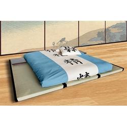 Letto Futon Matrimoniale.Kit Letto 3 Tatami Futon Bio 15cm Latex Matrimoniale Vivere Zen