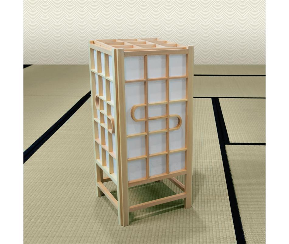 Lampada giapponese in legno di pino 61x29x29 cm vivere zen for Legno giapponese