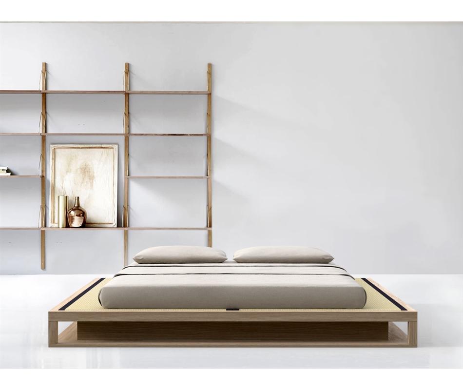 Letto giapponese in legno massello - Shiro Tami - Vivere Zen