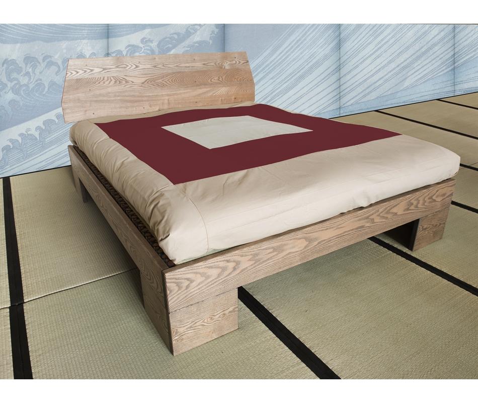 Letto in legno artigianale chan con testata vivere zen - Testata letto in legno ...