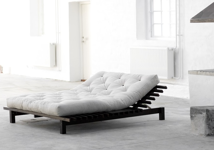 Letto in legno blues con spalliera regolabile vivere zen - Spalliera letto con cuscini ...
