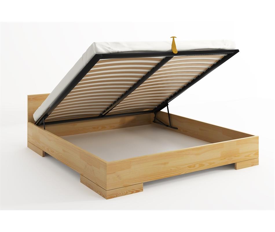 Letto in legno Spectrum in Pino con contenitore - Vivere Zen