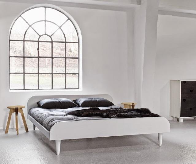 Letto in legno twist bianco con testiera vivere zen - Letto in legno bianco ...