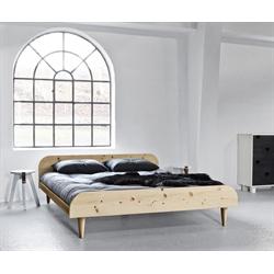 Letto in legno twist naturale con testiera vivere zen - Letto in legno naturale ...