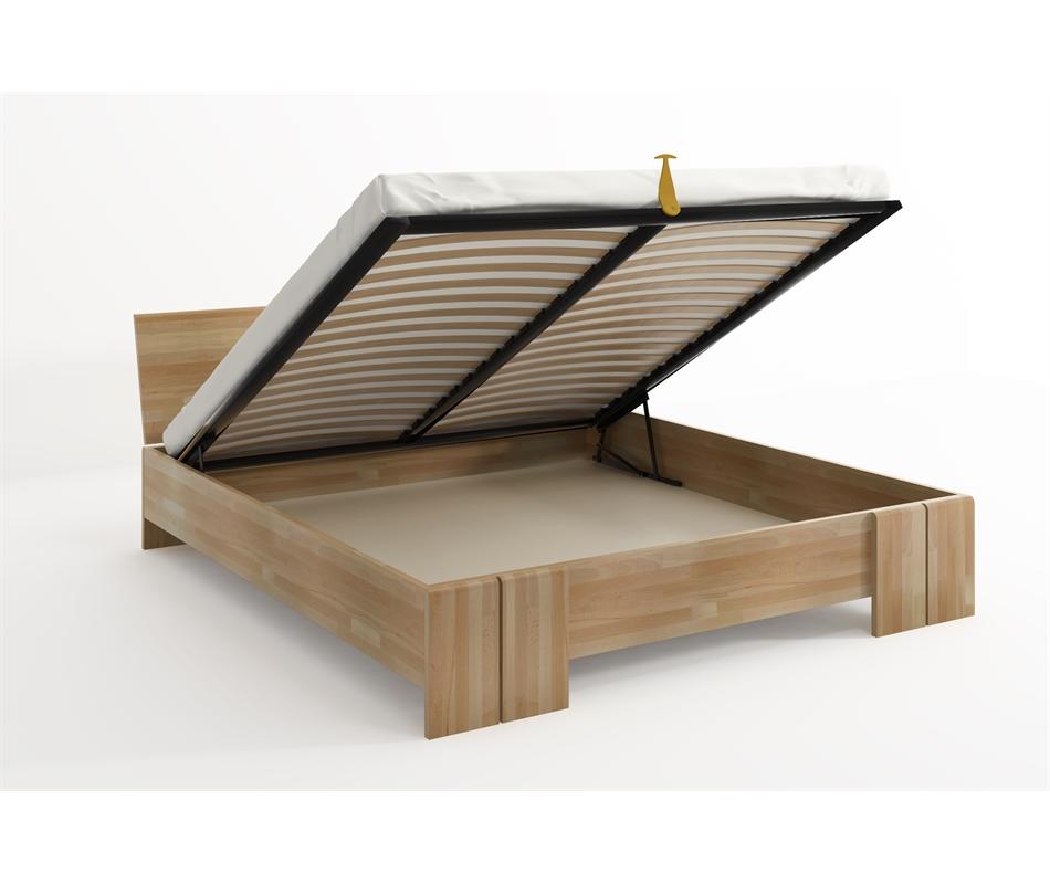 Letto in legno Vestre in Faggio con contenitore - Vivere Zen