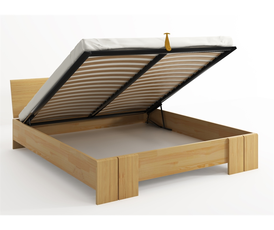 Letto in legno Vestre in Pino con contenitore - Vivere Zen
