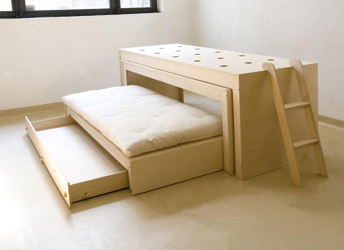 Letto moderno l18 con e senza scrivania vivere zen - Letto con scrivania ...