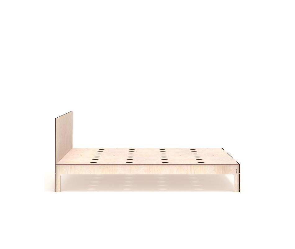 Letto moderno lummi con testata vivere zen - Letto moderno legno ...