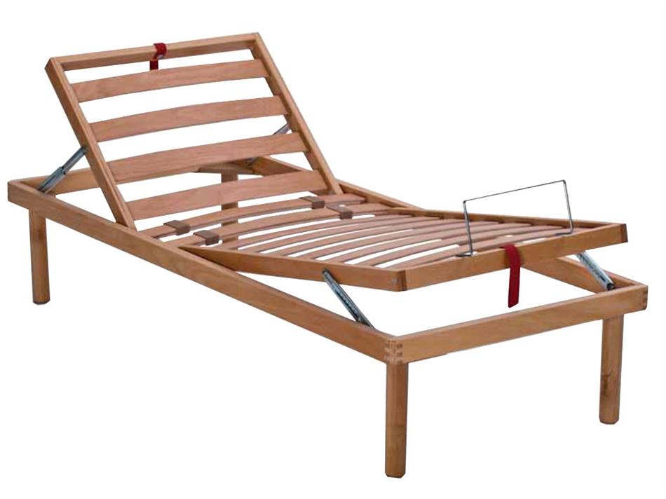 Letto reclinabile a doghe lf4 faggio vivere zen for Letto con testata reclinabile