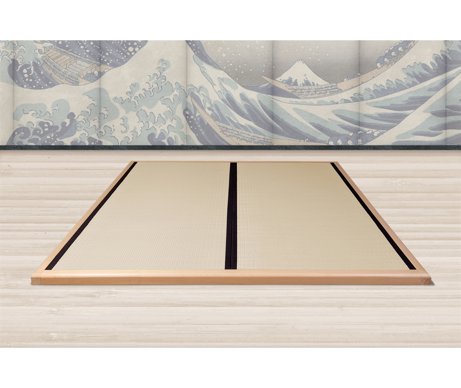 Letto tatami giapponese in legno wood frame naturale for Tatami giapponese