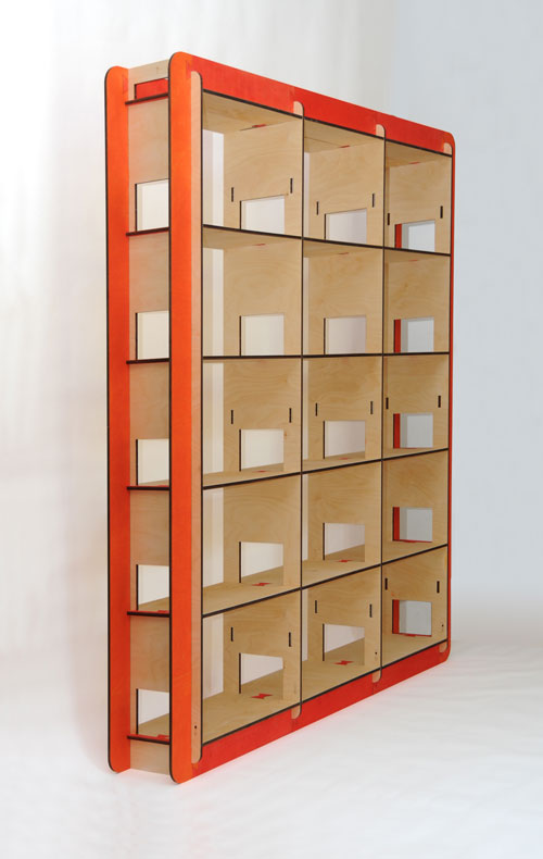 Libreria h3 modulare componibile 220cm vivere zen for Libreria modulare