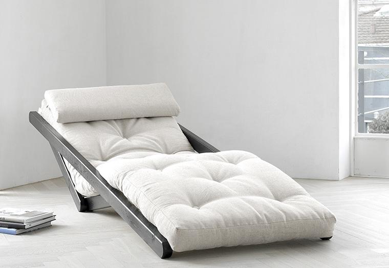 Poltrona letto futon chaise longue junichi vivere zen for Poltrona letto futon ikea