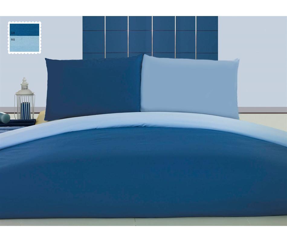 Copripiumino Azzurro.Set Copripiumino Jersey Con Federe Azzurro Blu Vivere Zen