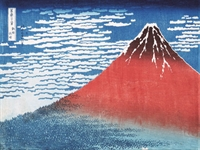 Stampa Giapponese - Hokusai, Il Fuji Rosso