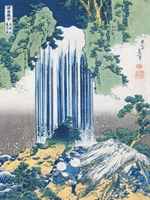 Stampa Giapponese - Hokusai, Le Cascate di Yoro