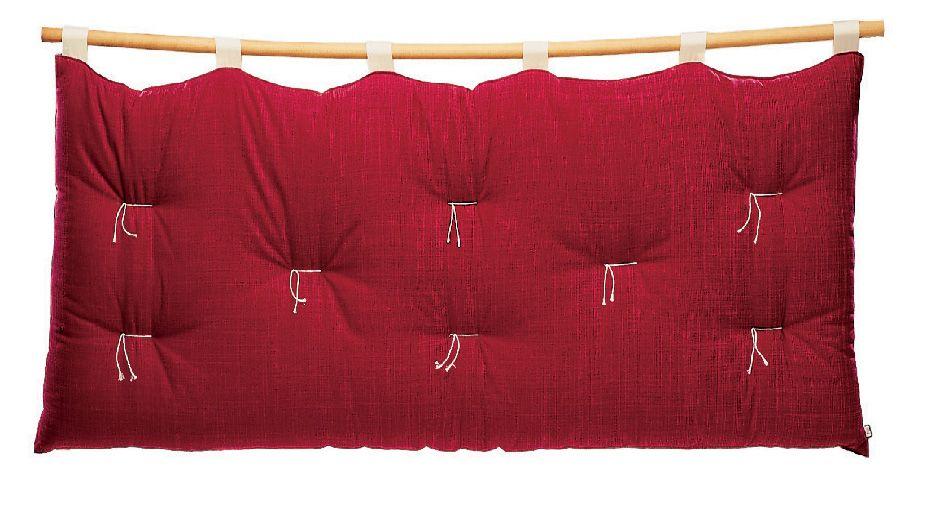 Testiera letto in cotone suoni vivere zen - Realizzare testata letto imbottita ...