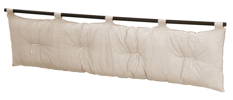 Testiera letto in cotone yogi vivere zen for Testiere letto a cuscino