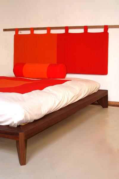 Testiera letto in cotone lattice e cocco zen bicolore - Testiera letto tessuto ...