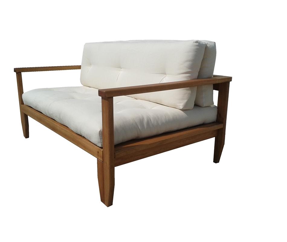 Divano letto in legno artigianale futon edera vivere zen - Futon divano letto ...