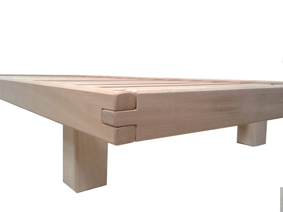 Letto a doghe artigianale bio wood vivere zen - Divano letto doghe in legno ...