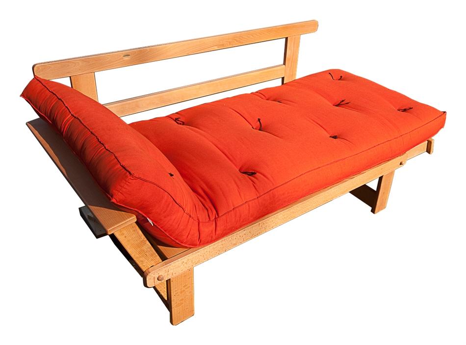 Divano letto futon sesamo naturale in promozione vivere zen