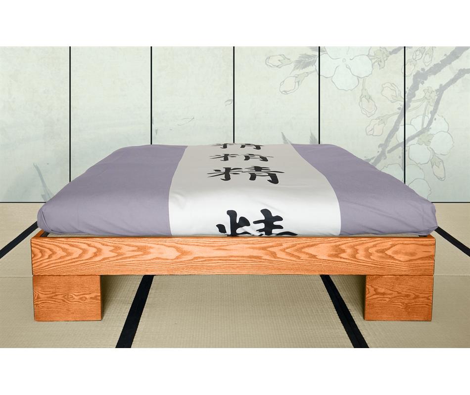 Letto in legno artigianale chan senza testata vivere zen - Letto giapponese tatami ...