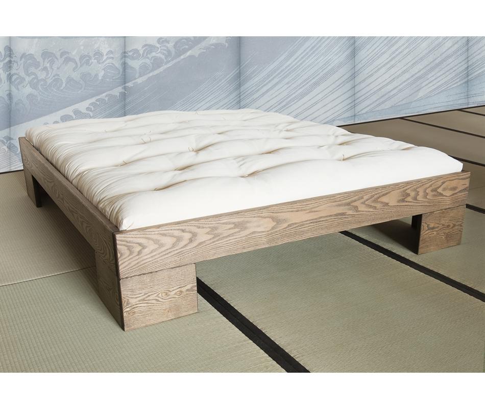 Letto in legno artigianale chan con testata vivere zen - Letto in legno naturale ...