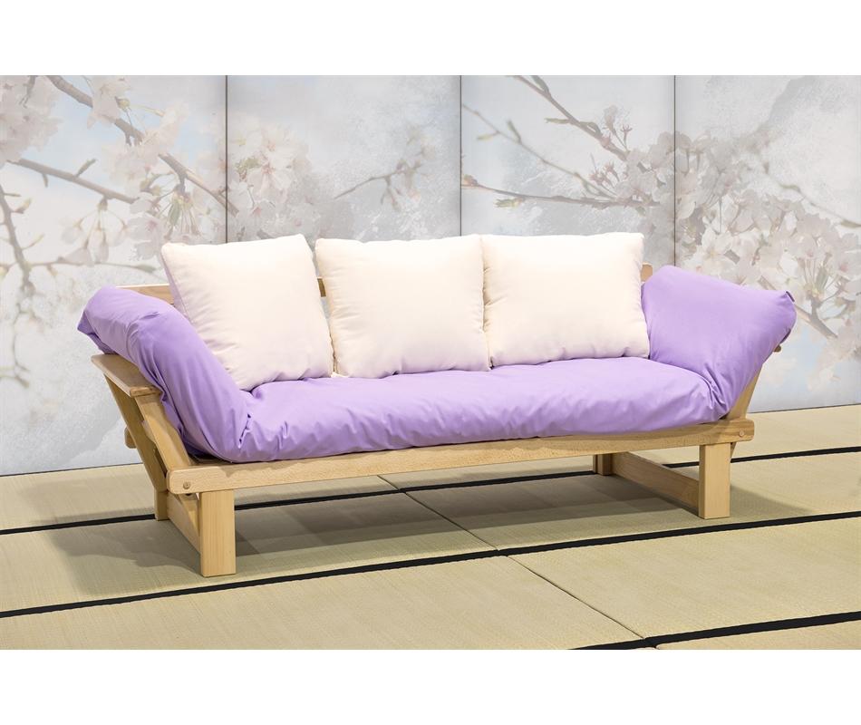 Divano letto futon artigianale sesamo a tre posti - Divano letto a tre posti ...