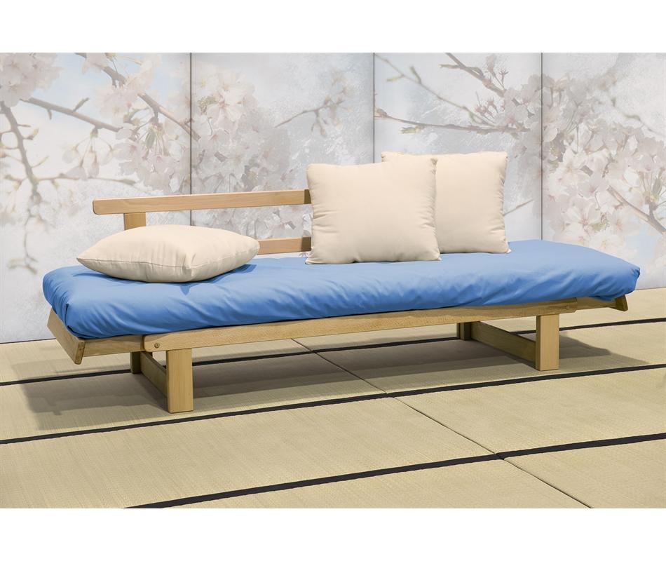 Divano letto futon artigianale sesamo a tre posti - Futon divano letto ...