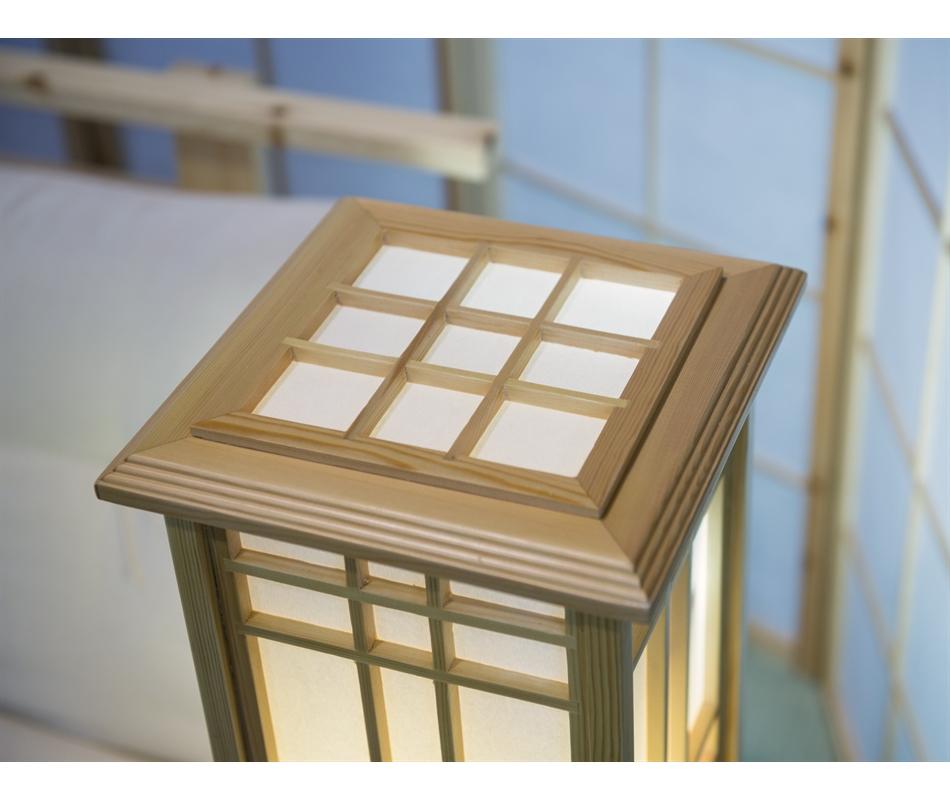 Lampada giapponese in legno di pino 90x25x25 cm vivere zen for Legno giapponese