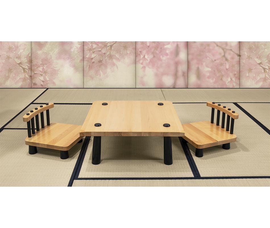tavolino giapponese in faggio sedie vivere zen