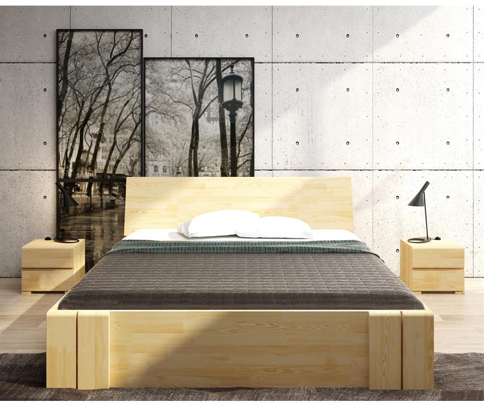Letto in legno vestre in pino con cassetti vivere zen - Letto con cassetti ...