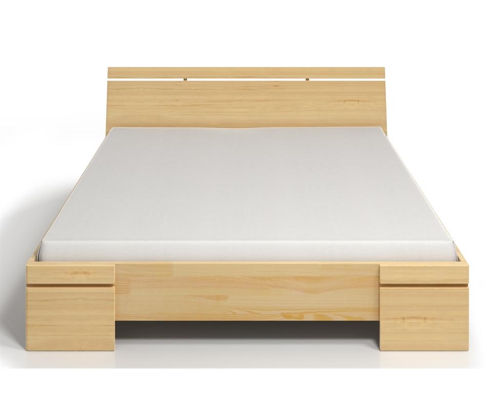 Letto contenitore sparta in legno di pino vivere zen - Letto contenitore in legno ...