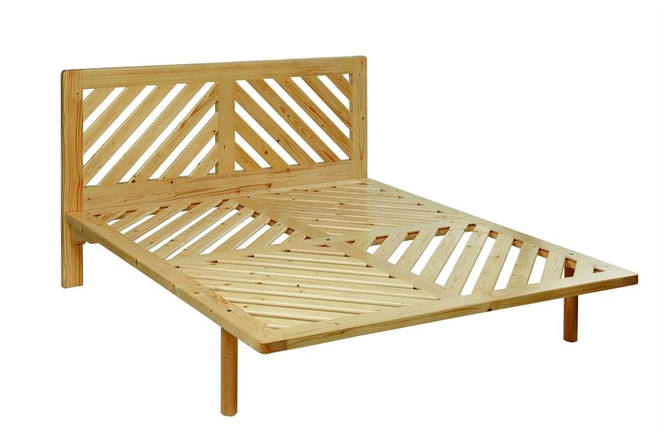 Letto a doghe con testiera lm3 abete vivere zen - Divano letto con doghe in legno ...