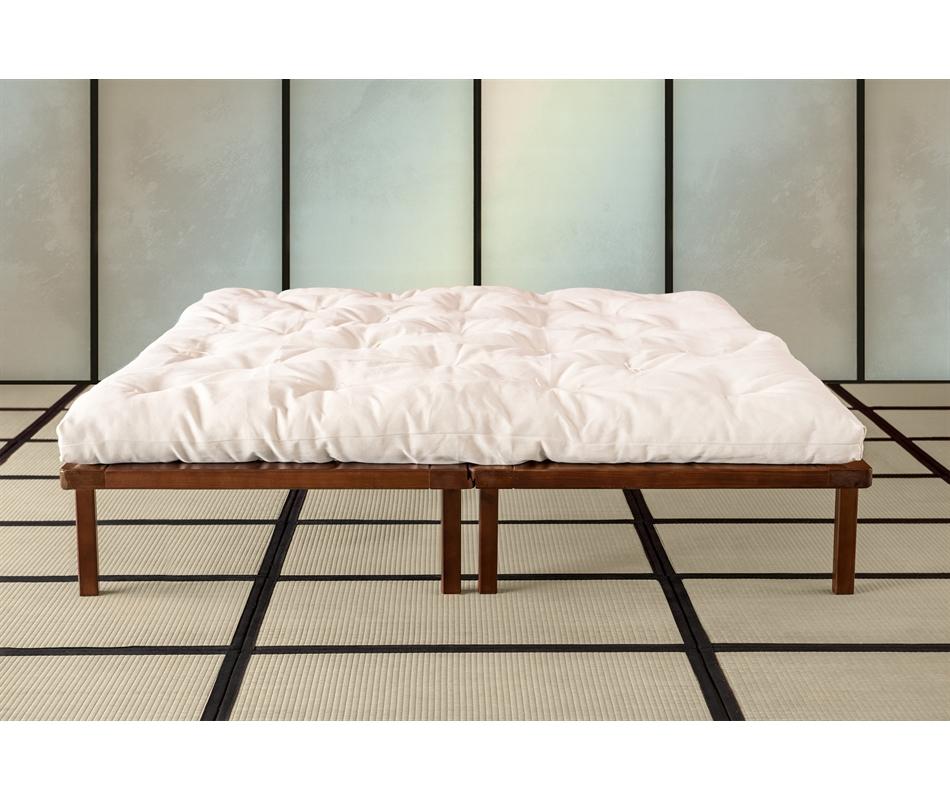 Letto a doghe matrimoniale componibile lm2 abete vivere zen - Doghe del letto ...