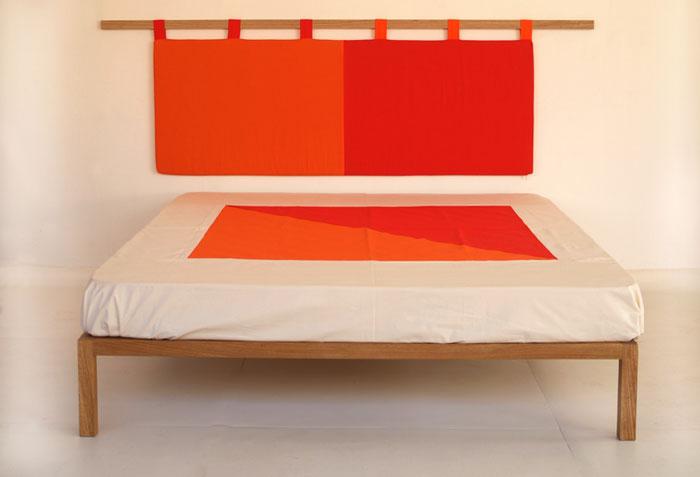 Testiera letto in cotone lattice e cocco zen bicolore vivere zen - Imbottitura per testiera letto ...