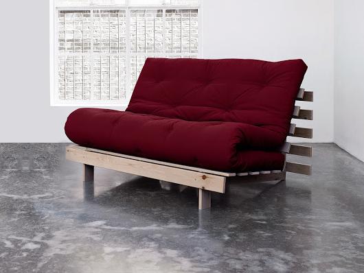 Divano letto futon roots zen vivere zen for Divano letto legno