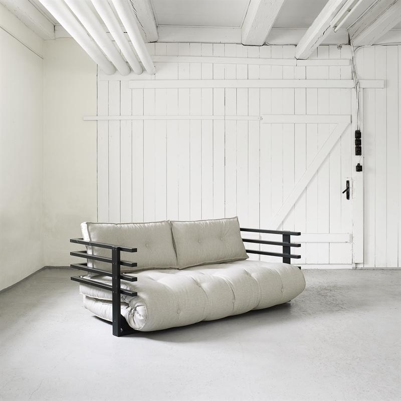 Divano letto futon yori vivere zen for Struttura letto divano