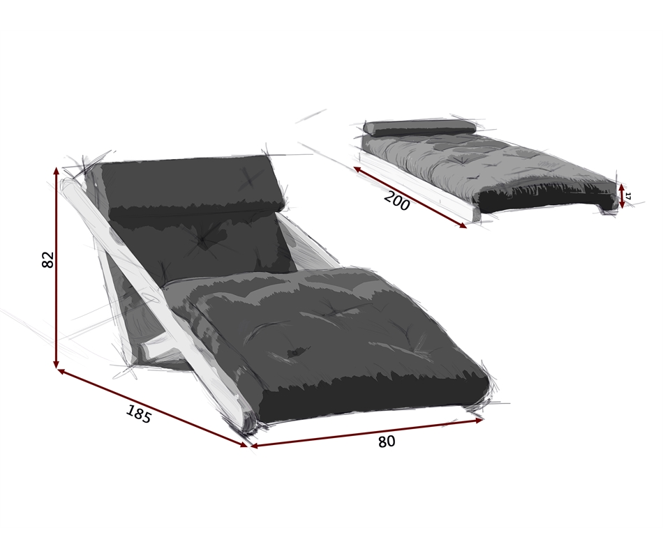 Poltrona letto futon chaise longue figo zen vivere zen for Poltrona letto futon